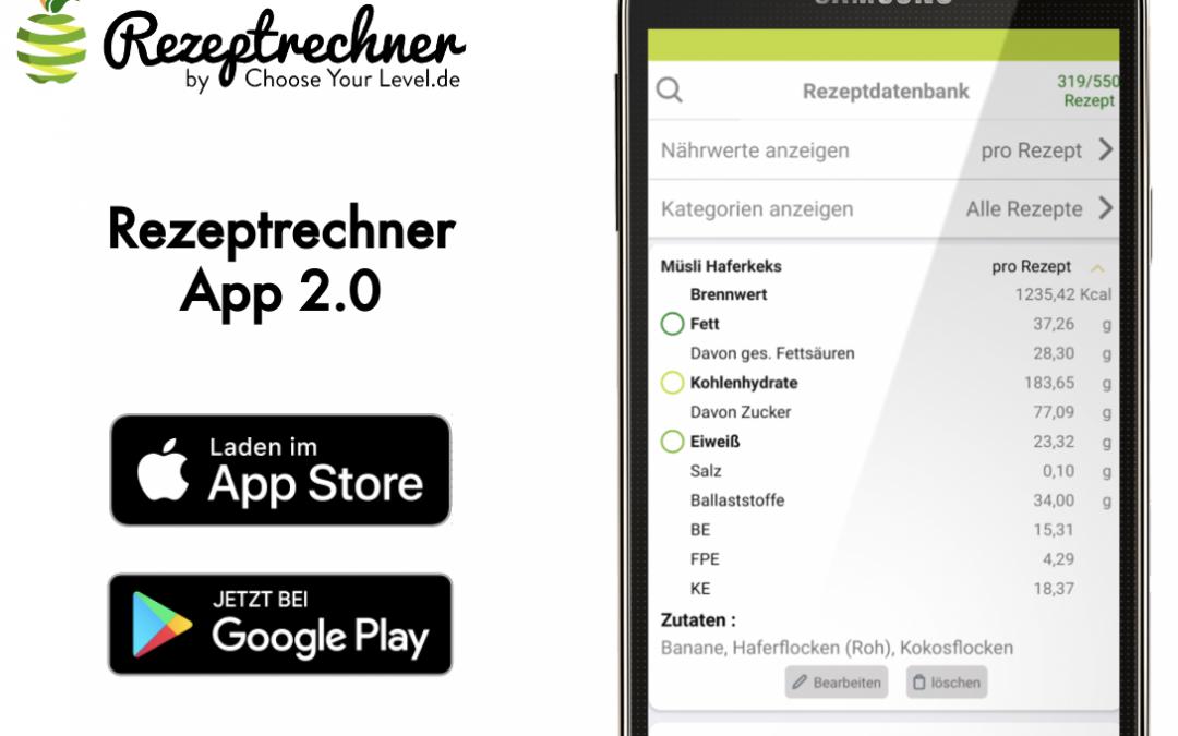 Rezeptrechner App 2.0