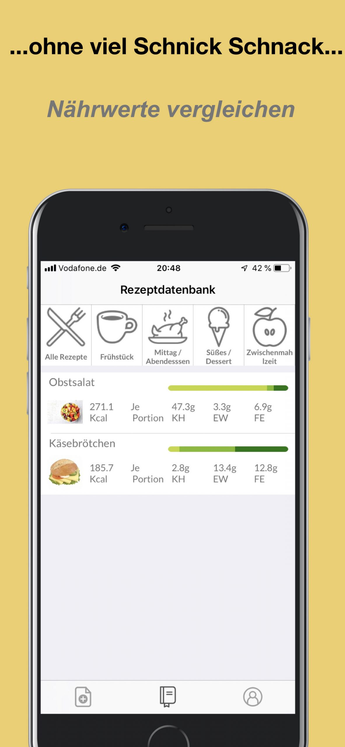 Eiweiß für Mahlzeit Berechnen