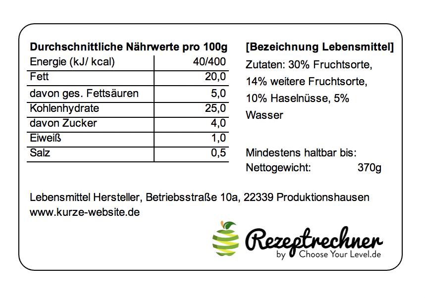 Kalorien Berechnen Lebensmittel (Kcal Rechner)