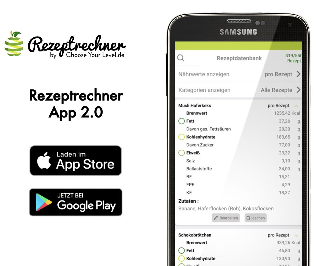 Broteinheiten berechnen mit der App