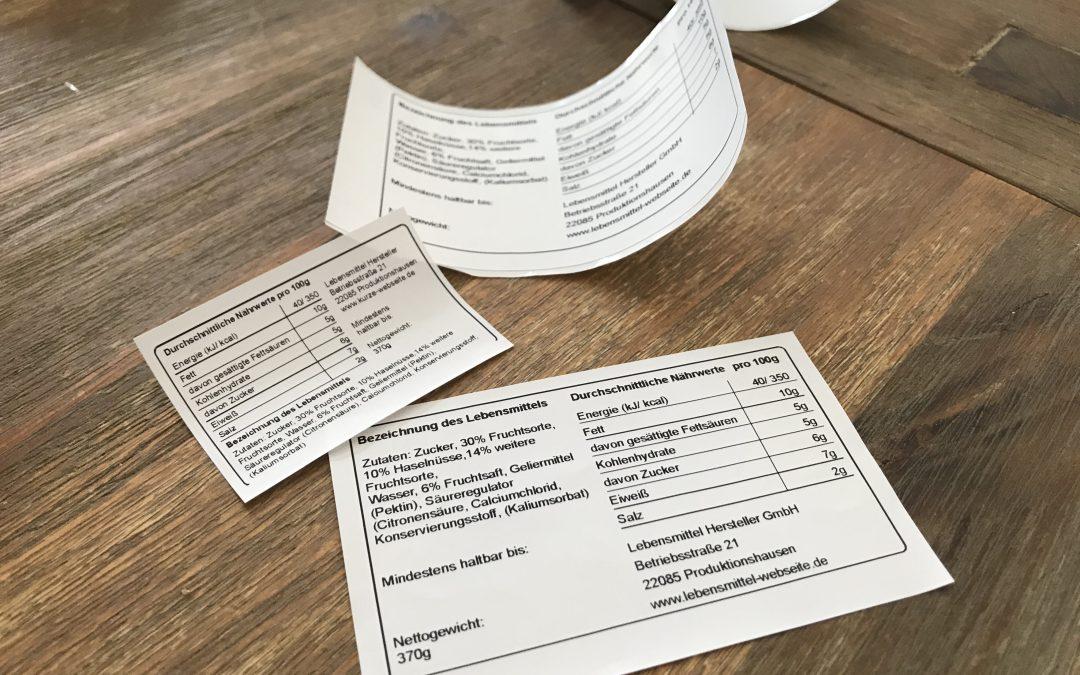 Lebensmittel Etiketten Drucken: Kostenlose Vorlagen