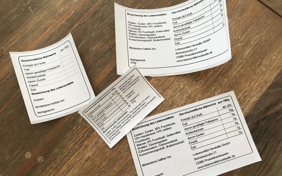 Lebensmittelkennzeichnung Etikett Erstellen